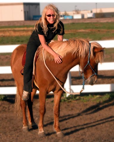 Ms. Sierra on her Icelandic horse