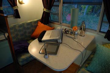 vintage trailer office